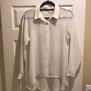 Sheer, cream colored LC Blouse